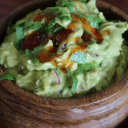 Coriander and lime spiked guacamole.
