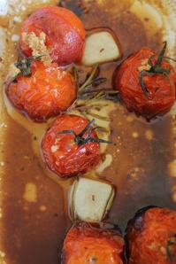 Balsamic roasted cherry tomatoes infused with rosemary and garlic