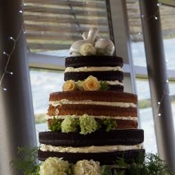 Naked Wedding Cake. Photo by Fifi Leong