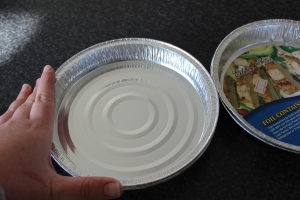 Size of the tin foil pie dishes.
